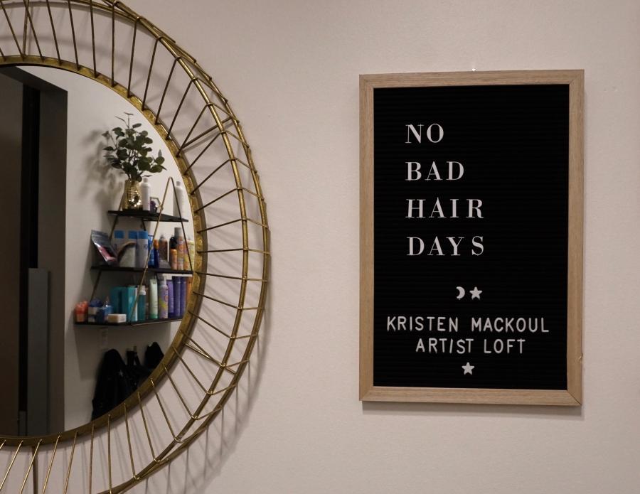 salon letter board ideas, no bad hair days